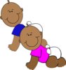 African-american Twins Clip Art