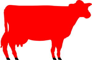 Red Heifer Clip Art