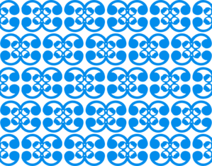 Thai Blue Pattern Clip Art
