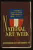 National Art Week, November 25th - December 1st A Work Of American Art In Every American Home. Clip Art