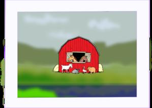 Barn Yard Painting Clip Art