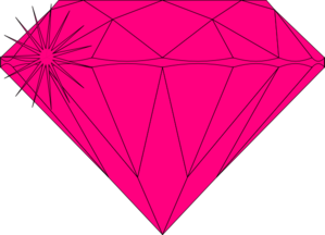 Pink Diamond Sparkle  Clip Art