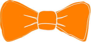 Orange Bow Tie Clip Art