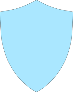 Sky Blue Shield Clip Art