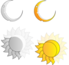 Moon And Sun Clip Art
