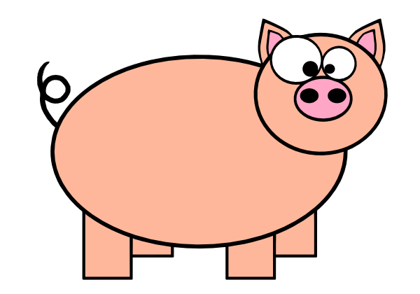 Cartoon Pig 2 Clip Art at Clker.com - vector clip art online, royalty ...