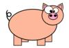 Piggie Silhouette Clip Art at Clker.com - vector clip art ...