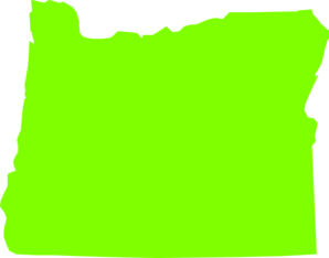 Oregon State Lime Green  Clip Art