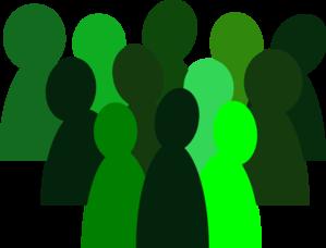 4 green crowd clip art at clker com vector clip art online rh clker com crowd of people clip art free