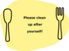 Please Clean Up After Yourself! Clip Art