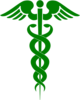 Caduceus Green Clip Art