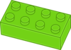 Green Lego Brick Clip Art