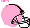 Football Helmet Pink And Black Clip Art