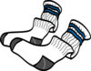 Athletic Crew Socks Clip Art