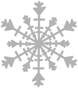 Single Snow Flake Clip Art