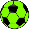 Green And Black Soccer Ball Clip Art