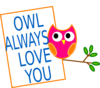 Orange Owl 2 Clip Art