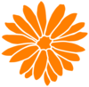 Orange Dahlia Clip Art