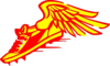 Winged Foot, Red And Yellow Clip Art