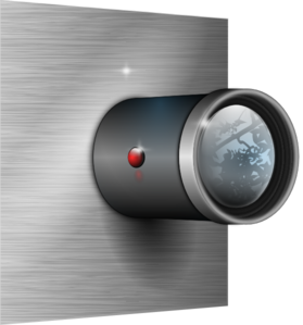 Camera Lens On Wall Clip Art
