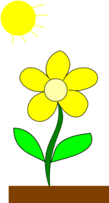 Flower In Sun Clip Art