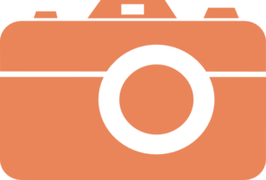 Orange Camera Thanks Clip Art