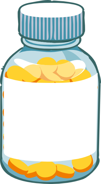 Blank Pill Bottle Clip Art at Clker.com - vector clip art ...