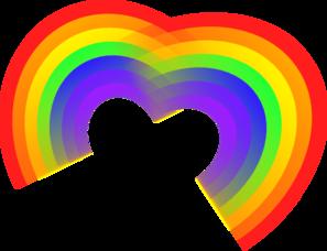 Double Rainbow Heart Clip Art at Clker.com - vector clip ...