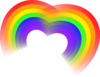 Double Rainbow Heart Clip Art