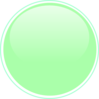Glossy Lime Button Clip Art