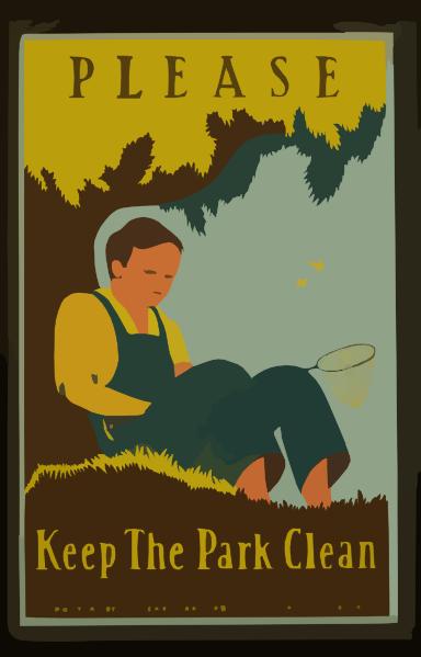 please keep the park clean clip art at clker com