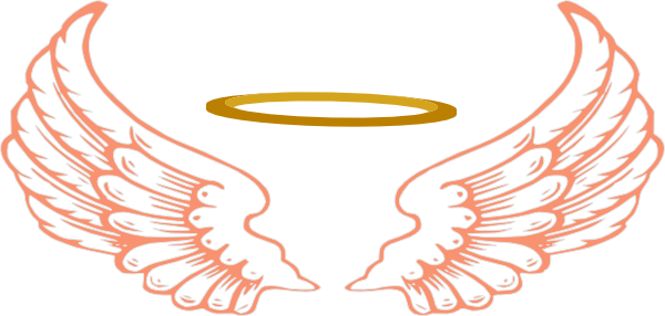 free angel wings with halo clip art - photo #13