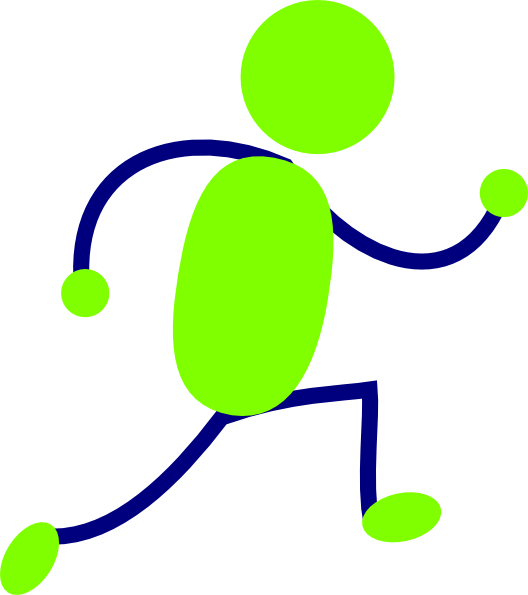 Green And Blue Running Man clip artRunning Clipart