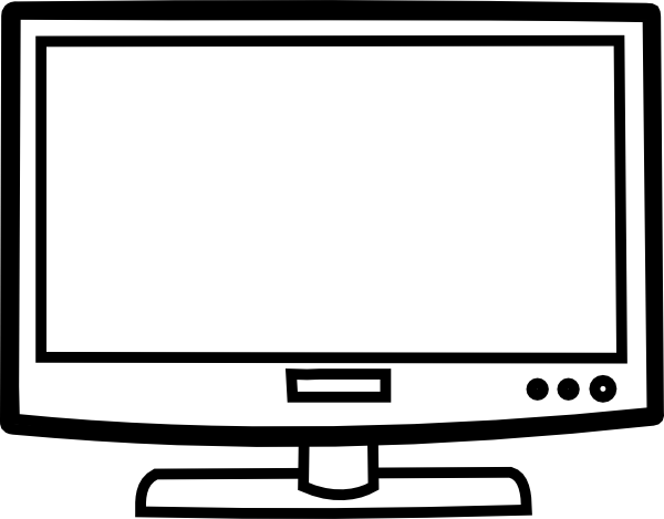 Television outline clip art at vector clip art for Tv coloring page