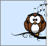 Owl On Branch 79 Clip Art