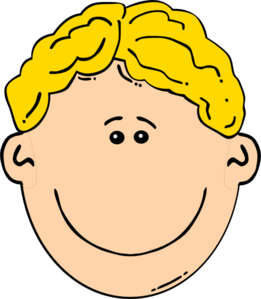 Blonde Boy Smiling Clip Art