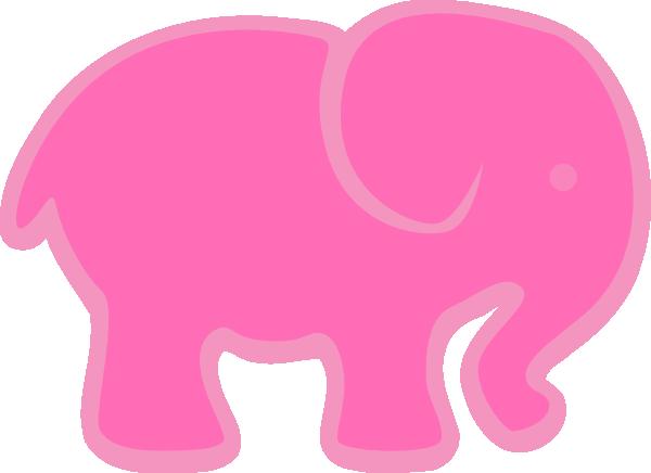 clip art pink elephant - photo #15
