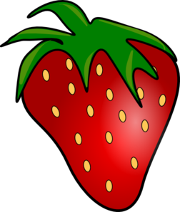 red delicious strawberry clip art at clker com vector clip art rh clker com clipart strawberry black and white clip art strawberry shortcake