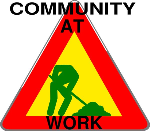 Community Sign Clip Art at Clker.com - vector clip art online, royalty ... Under Construction Signs