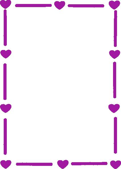 Heart Page Borders Purple heart border clip art