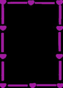 purple heart border clip art at clker com vector clip art online rh clker com heart border clipart black and white heart border clip art free