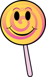 Smiling Lolly Clip Art