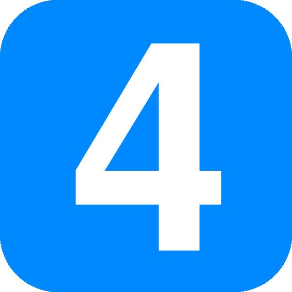 blue number four clip art at clkercom vector clip art