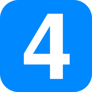 Blue Number Four Clip Art