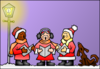 Christmas Carolers Clip Art