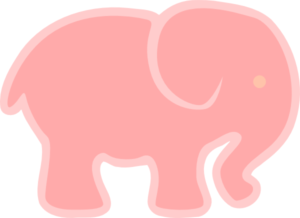 clip art pink elephant - photo #19