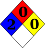 Nfpa Diamond 2-0-0 Clip Art