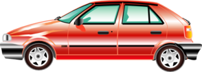 Red Compact Car Clip Art