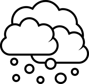 Weather Showers Scattered - Outline Clip Art