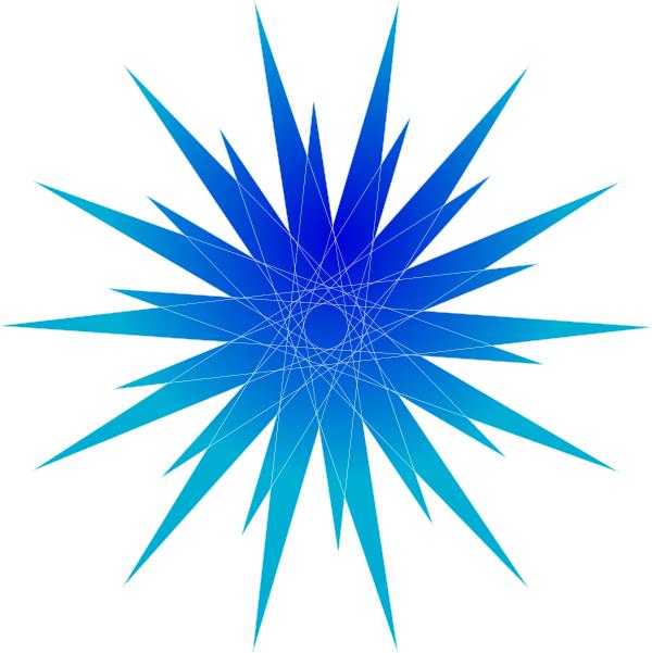 Blue Star Burst Clip Art at Clker.com - vector clip art online ...